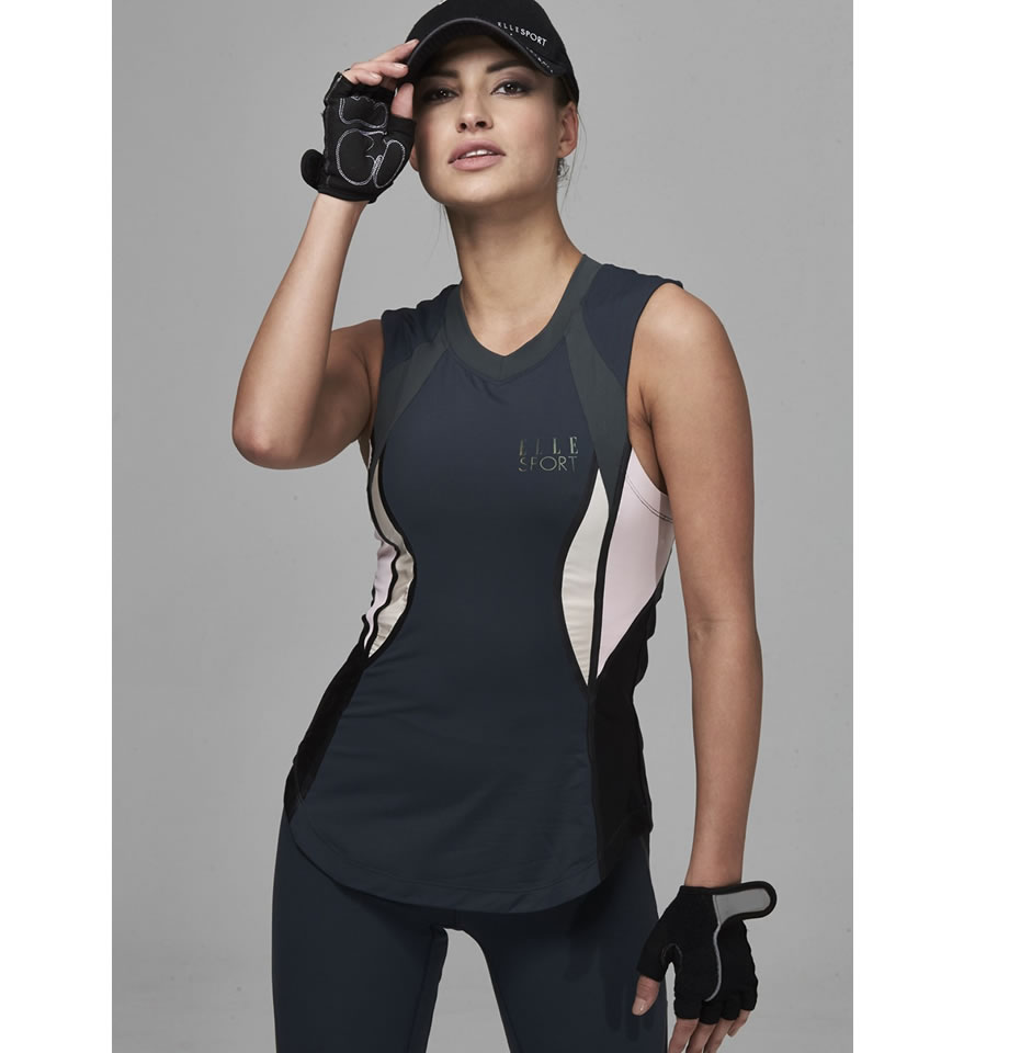 Elle Sport Contour Panelled Performance Vest With Support