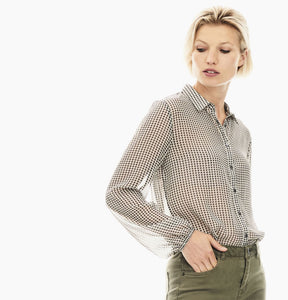 Garcia Ladies Houndstooth Shimmer Shirt T00236
