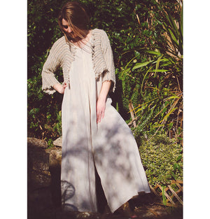 La Bottega di Brunella Tuta Athena Riga Sole Gold and Natur Linen Jumpsuit