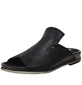 Lofina Slider Sandals Gasoline Nero E9-081