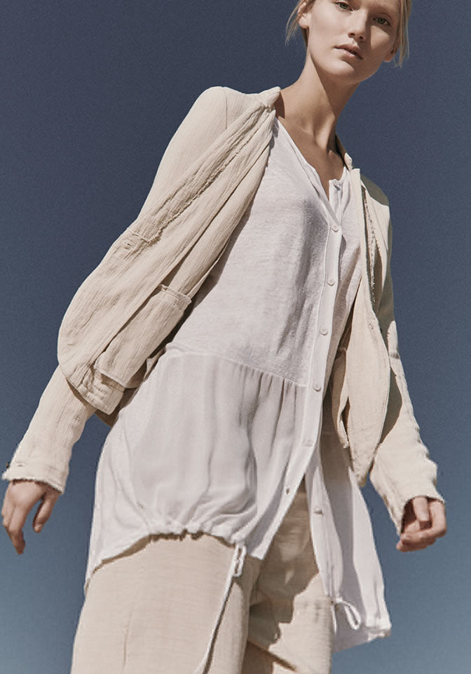 Transit Par Such Giacca Cream Linen Jacket