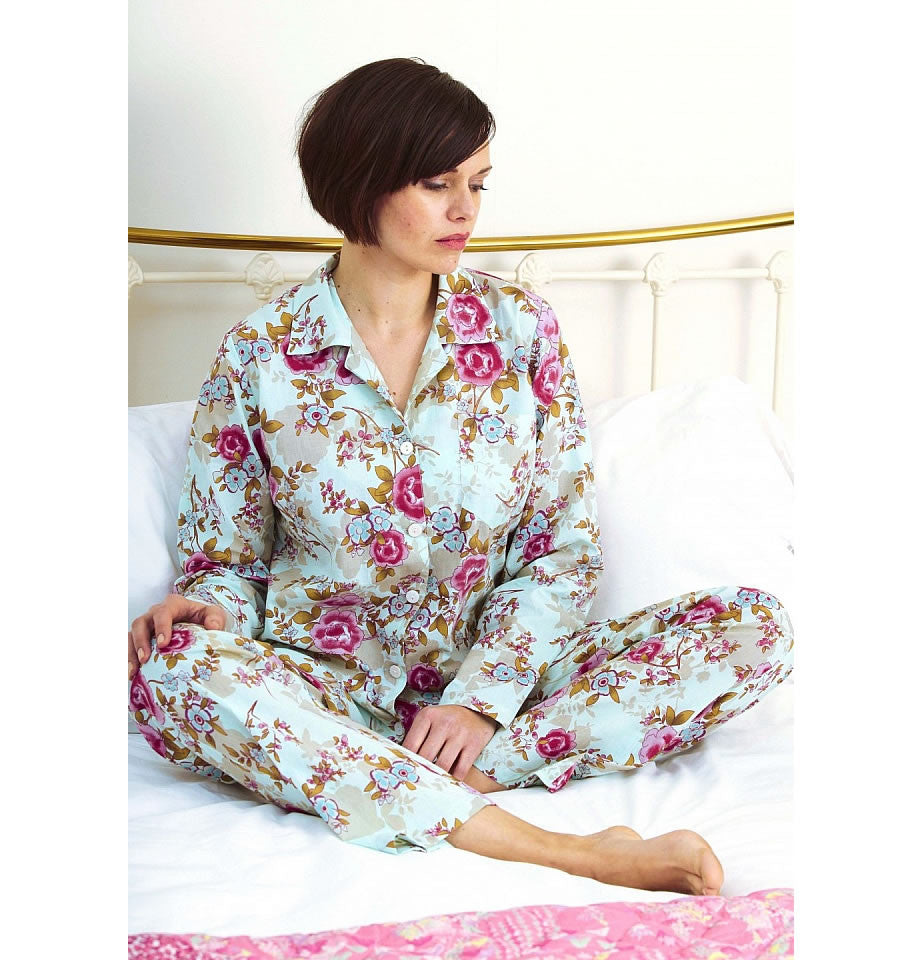 Caro London Blue Beautiful Classic PJ Set