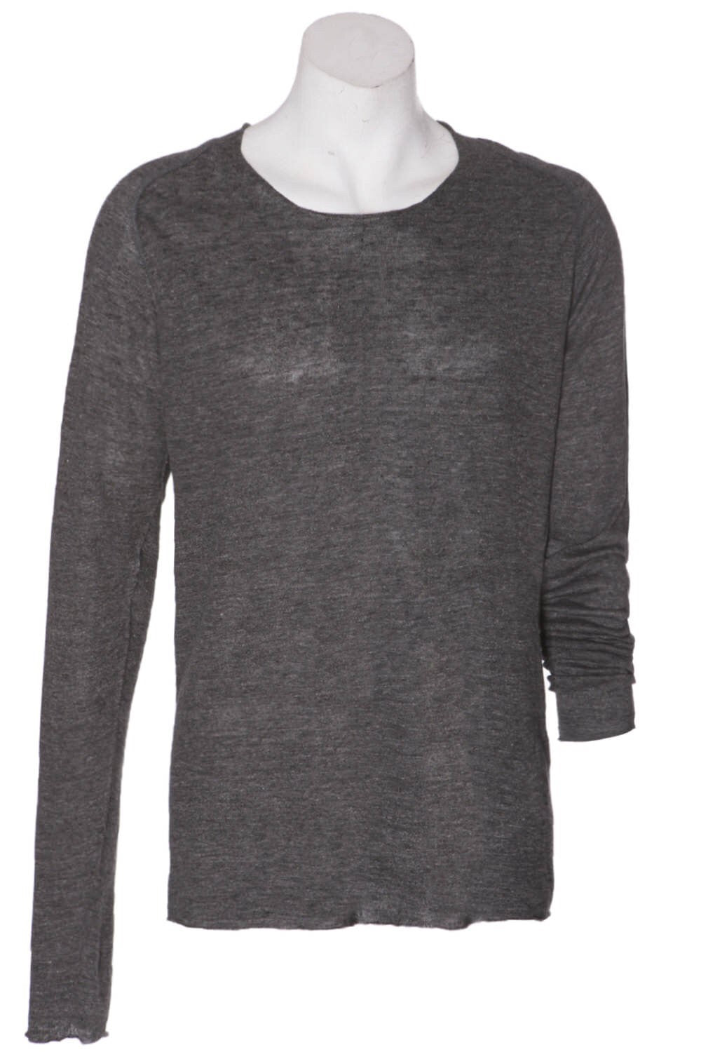 Hannes Roether Black Linen Knit Sweater