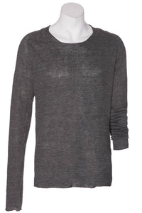 Hannes Roether Black Linen Knit Sweater - LAST ONE!