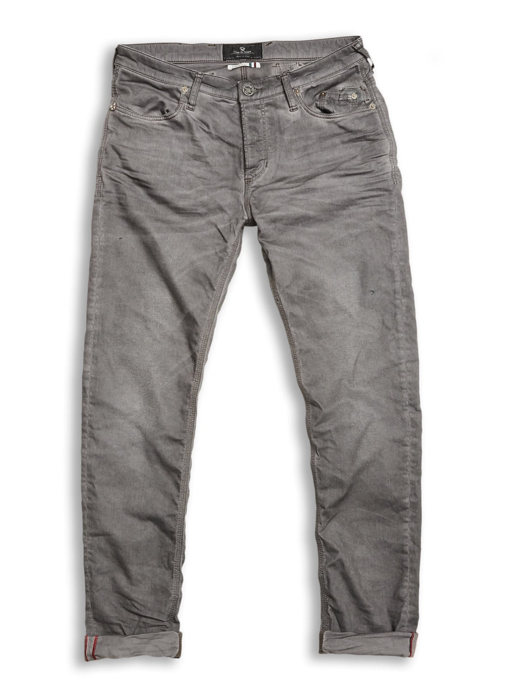 Blue de Genes Grey Repi Oil Trousers