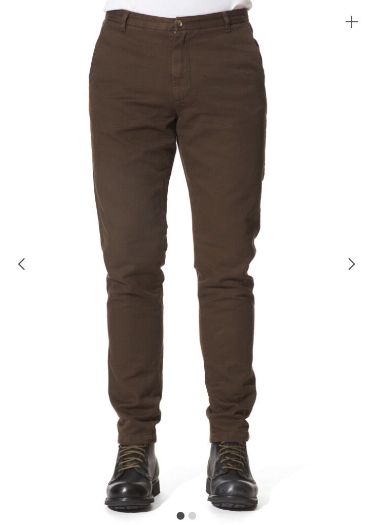 Claes Goran Chocolate Twill Trouser