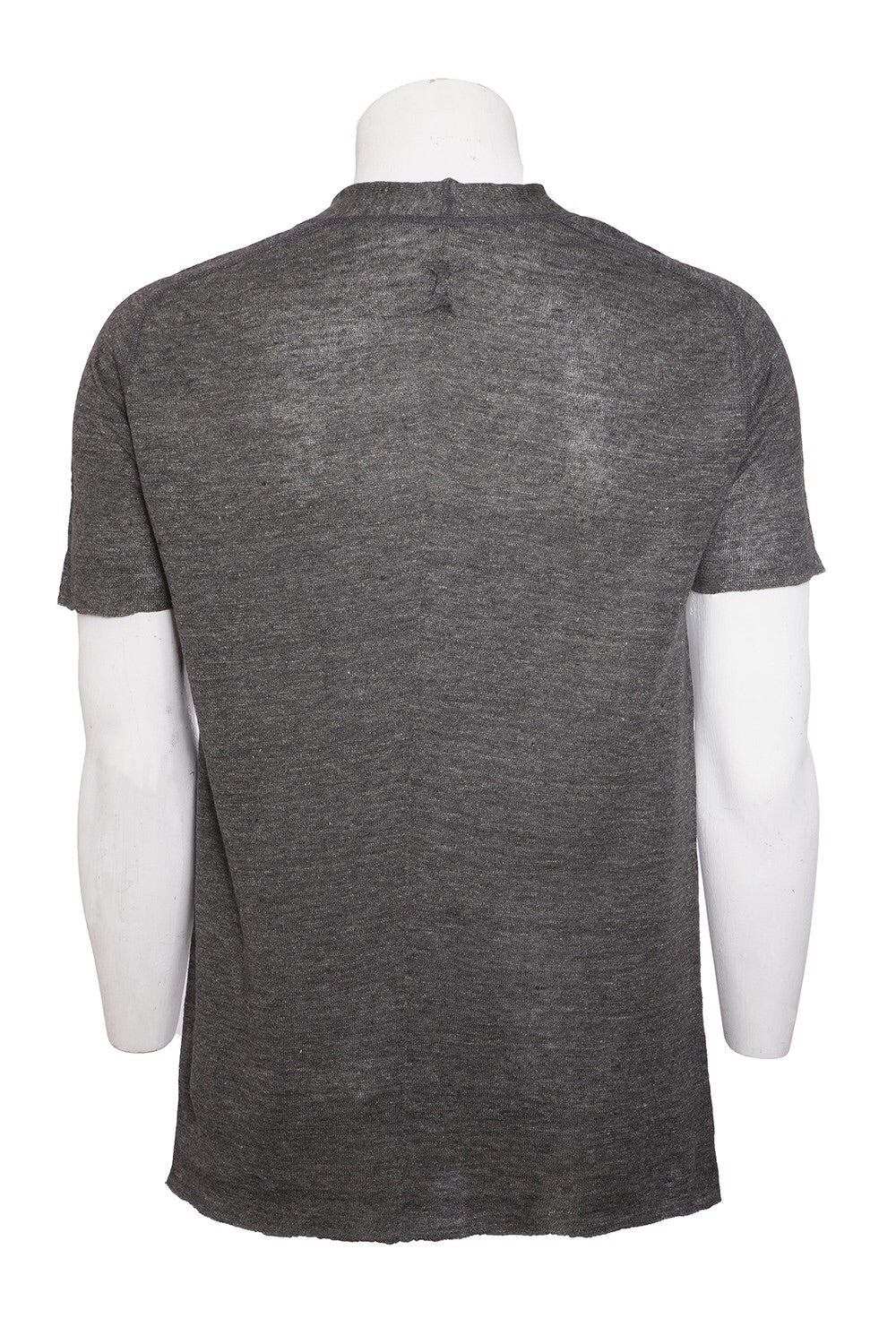 Hannes Roether Black Linen Knit T-Shirt
