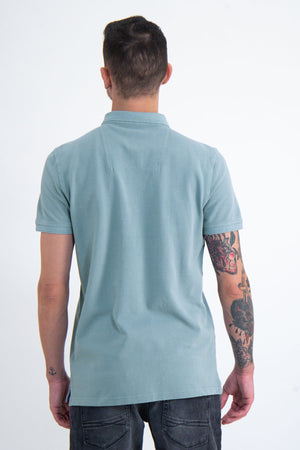 Garcia Mineral Blue Polo Shirt