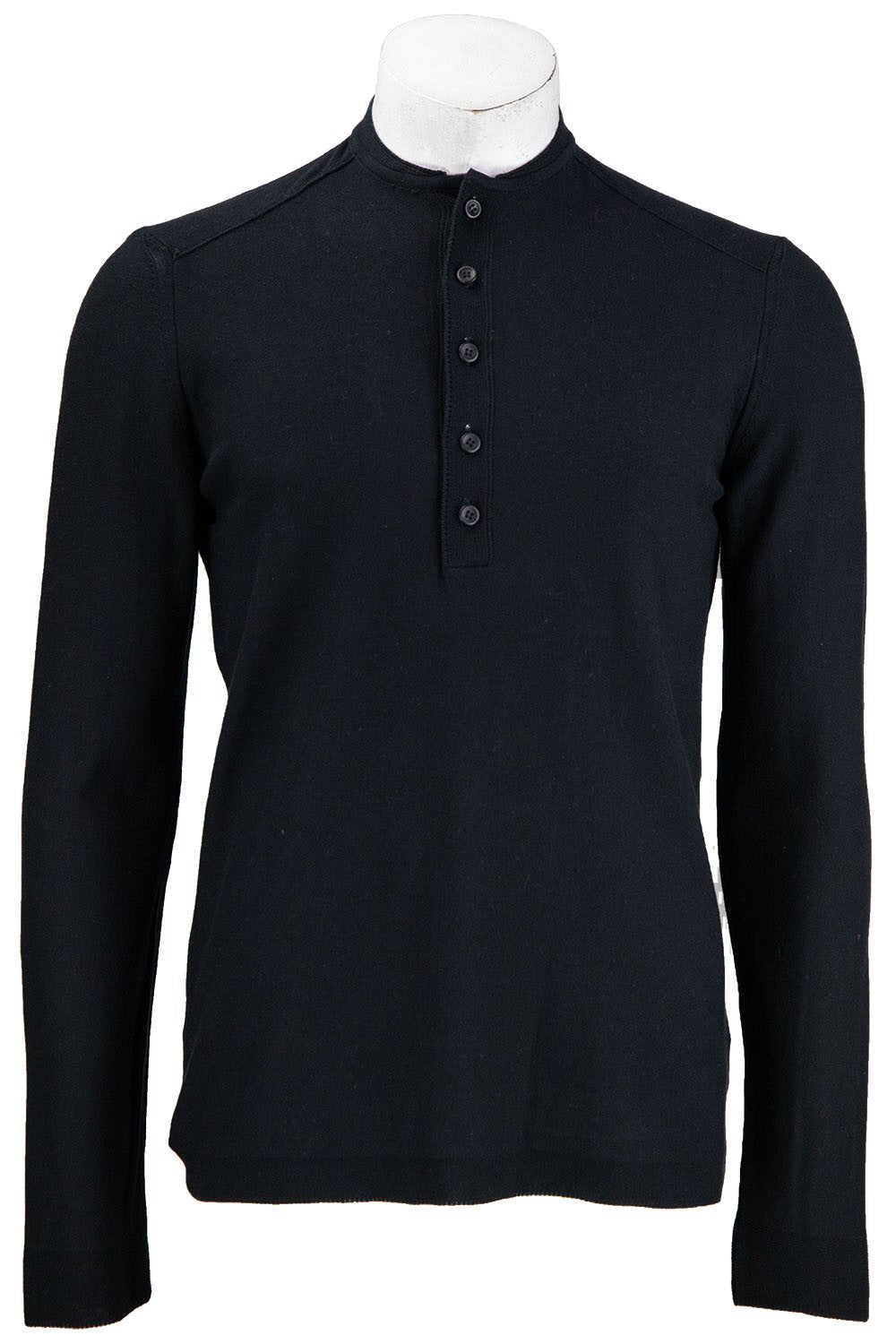 Hannes Roether Black Henley Shirt