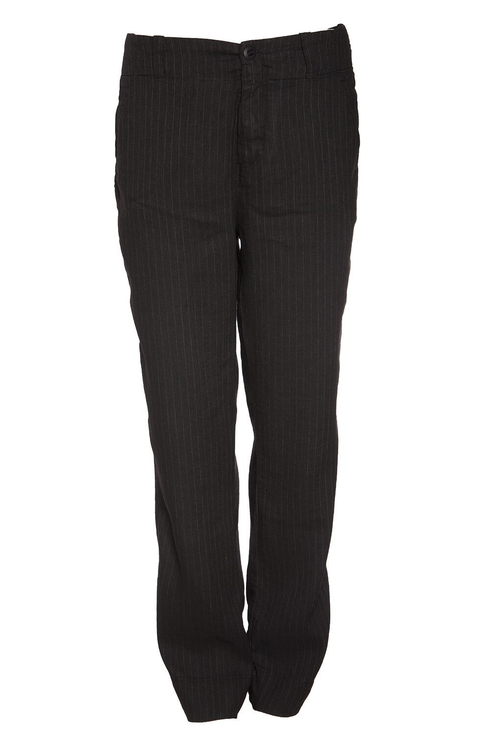 Hannes Roether Linen Pinstripe Trouser