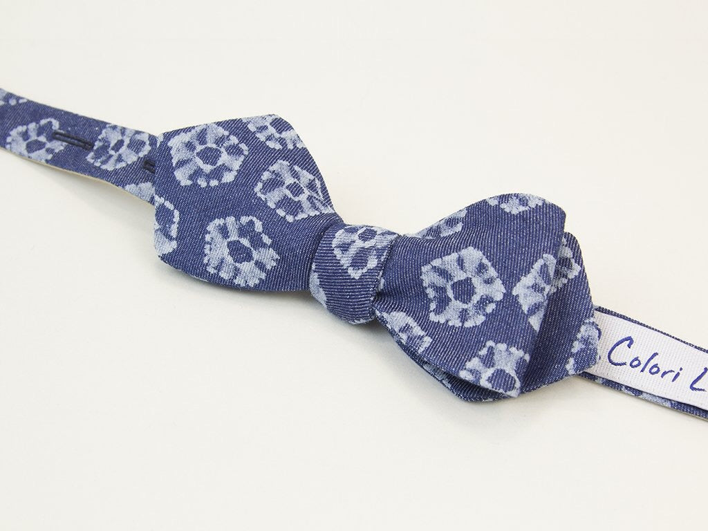 40 Colori Denim Butterfly Bow Tie
