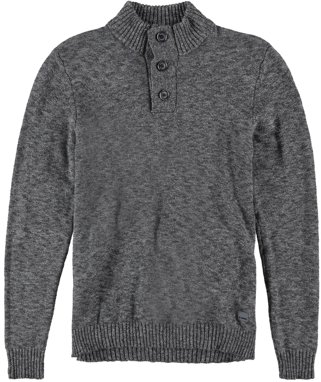 Garcia Men's Button Neck Pullover