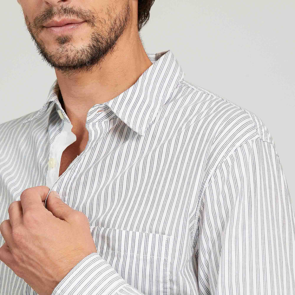 REDUCED!! - Aigle Agriata Blanc Stripe Shirt