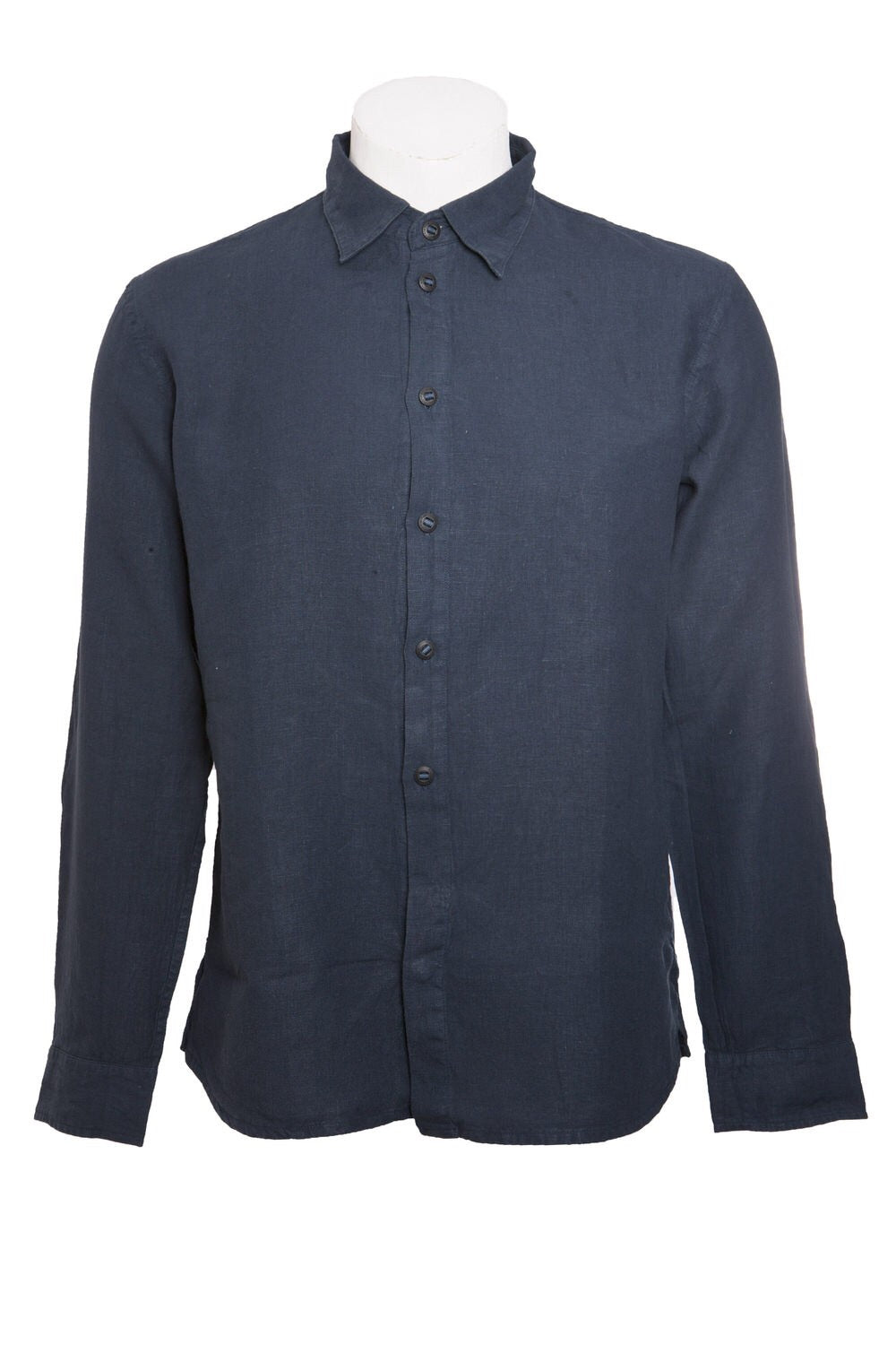 Hannes Roether Blue Linen Shirt