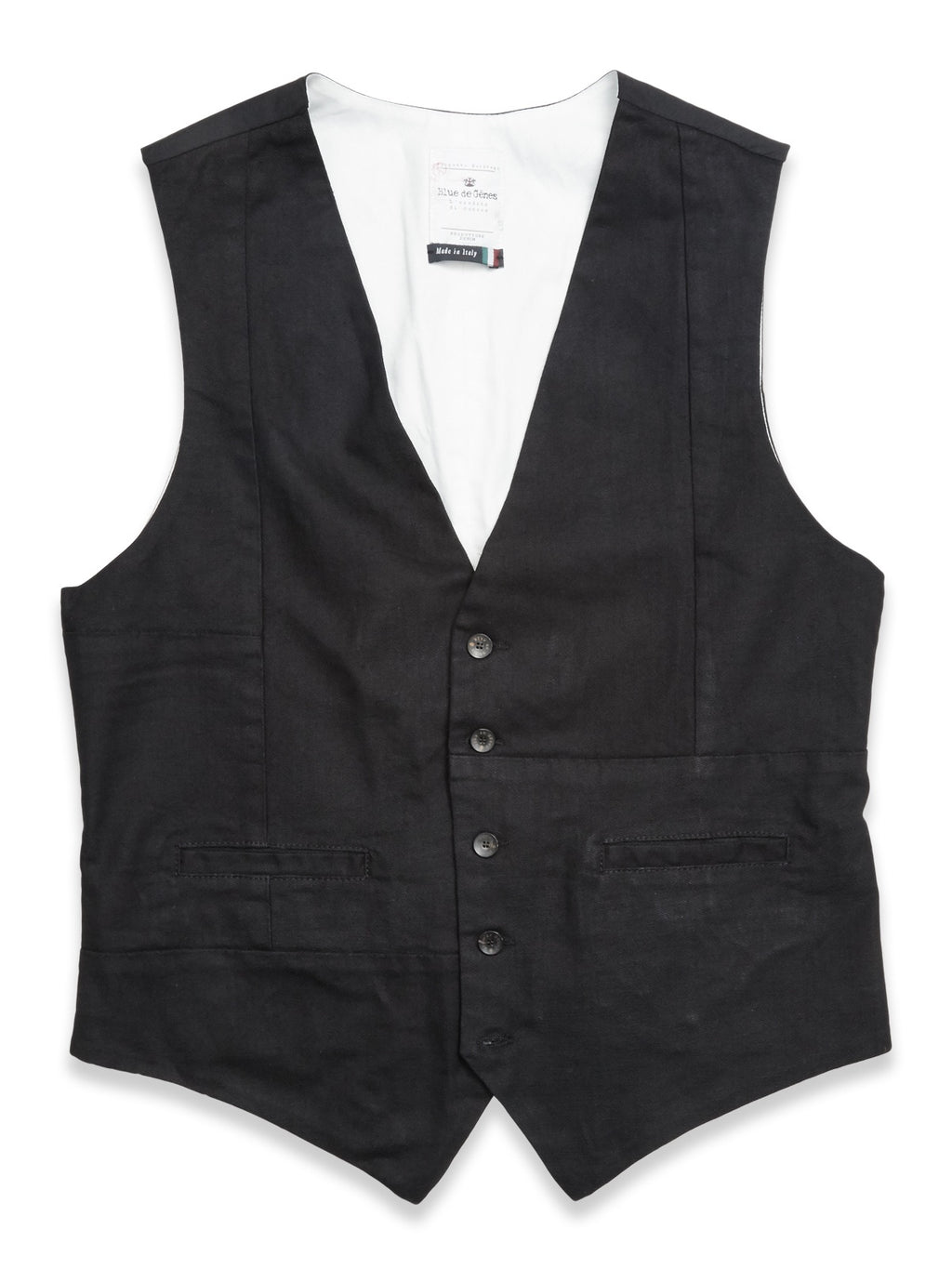 Blue de Genes Black Denim Waistcoat - LAST SIZES!
