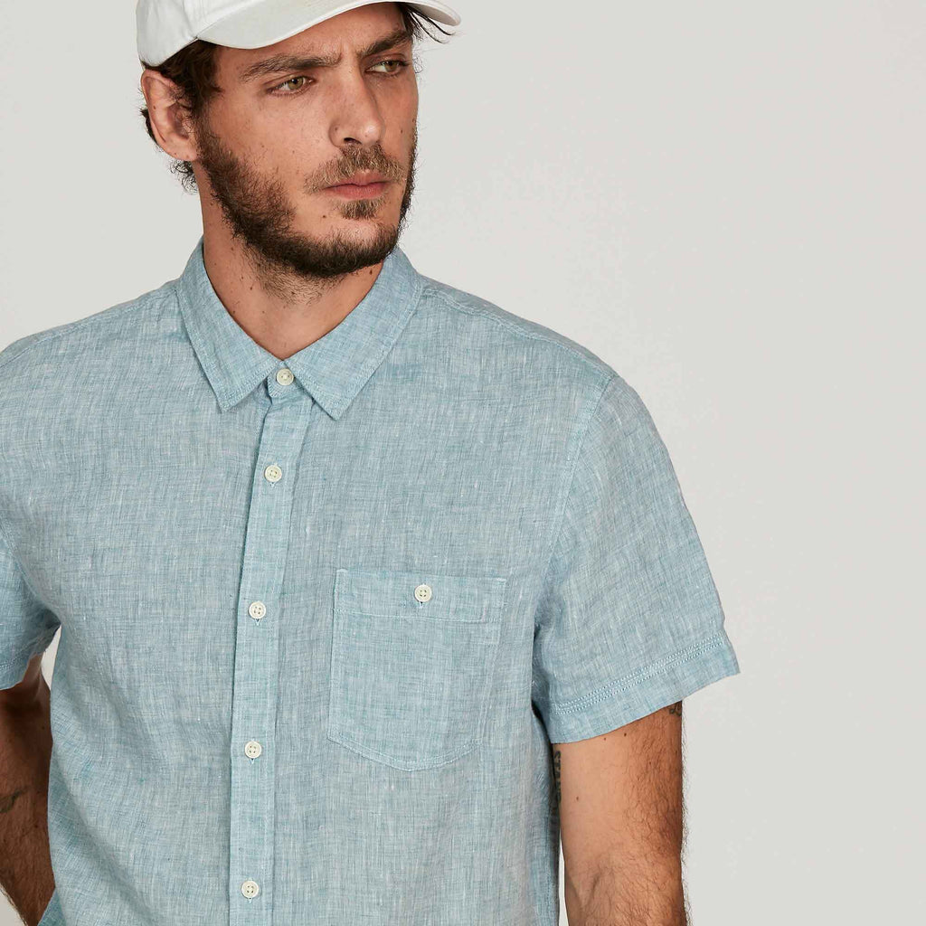 LAST SIZES REDUCED! Aigle Azurin Short Sleeve Linen Shirt