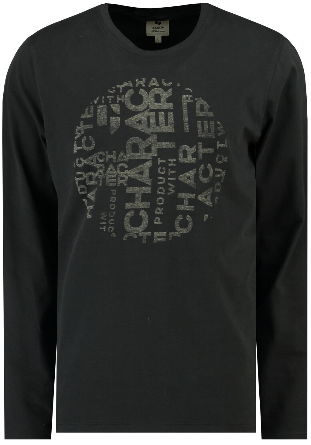 Garcia Black Character Long Sleeve T- Shirt - LAST ONE REDUCED!!