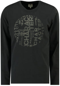 Garcia Black Character Long Sleeve T- Shirt