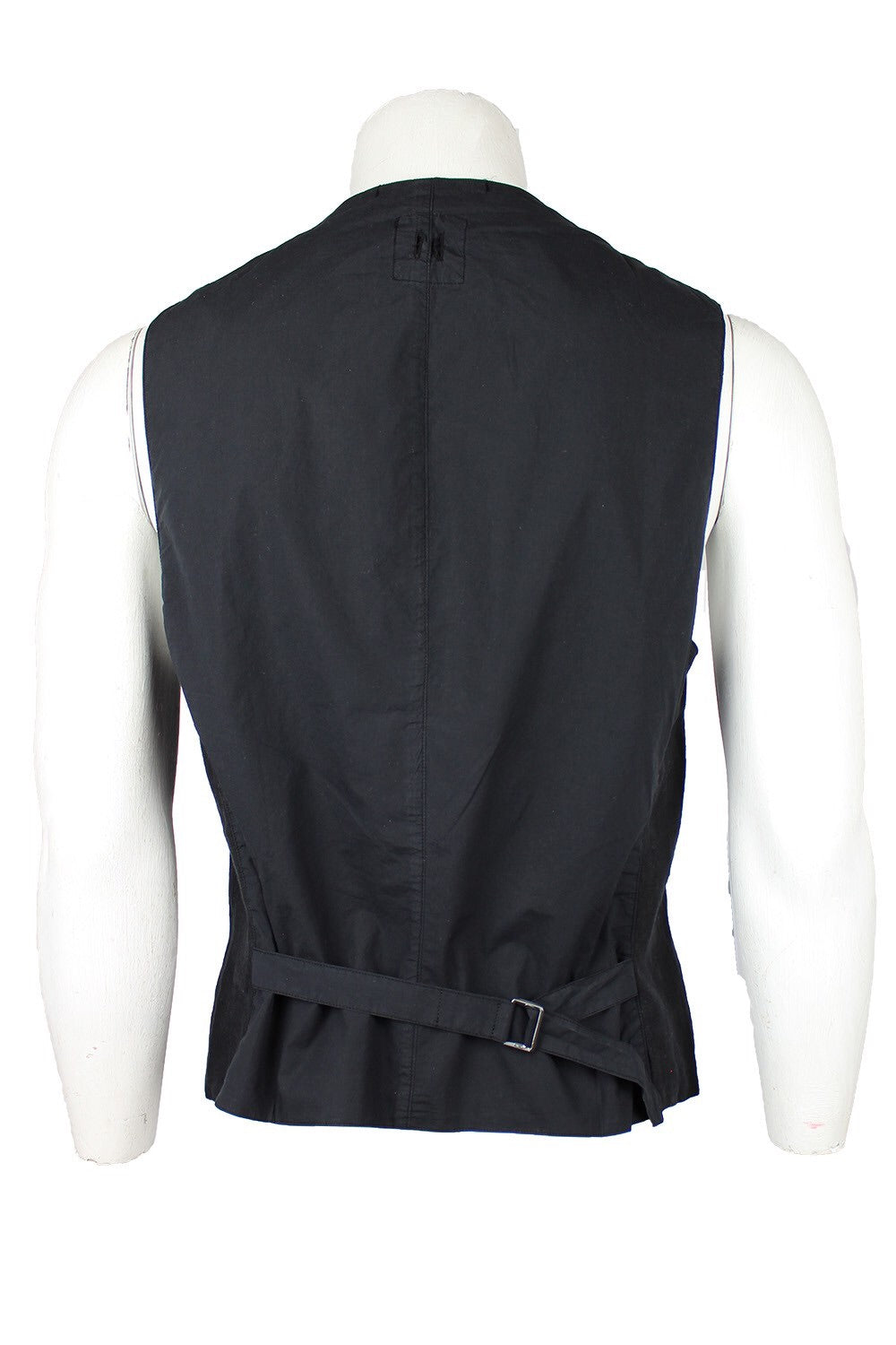 Hannes Roether Black Linen Vest - LAST SIZES