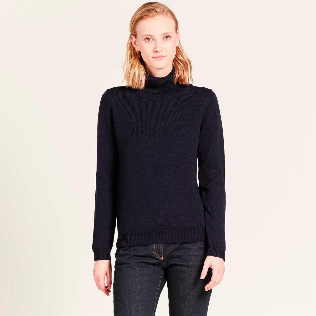 Aigle AUGWOOL Dark Navy Polo Neck Pullover