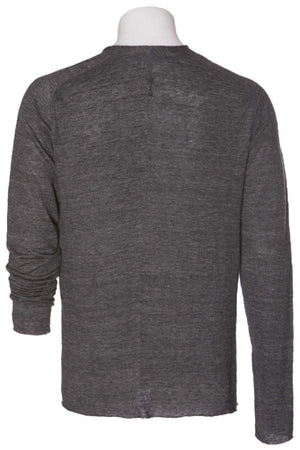 Hannes Roether Black Linen Knit Sweater -REDUCED!