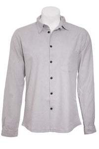 Hannes Roether Grey Herringbone Shirt