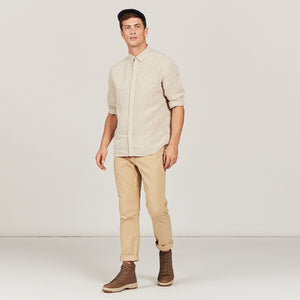 Aigle Light Sand Linen Shirt