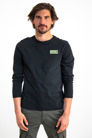 Garcia Men's Black Long Sleeve T-Shirt