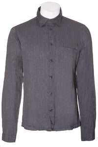 Hannes Roether Anthracite Herringbone Shirt