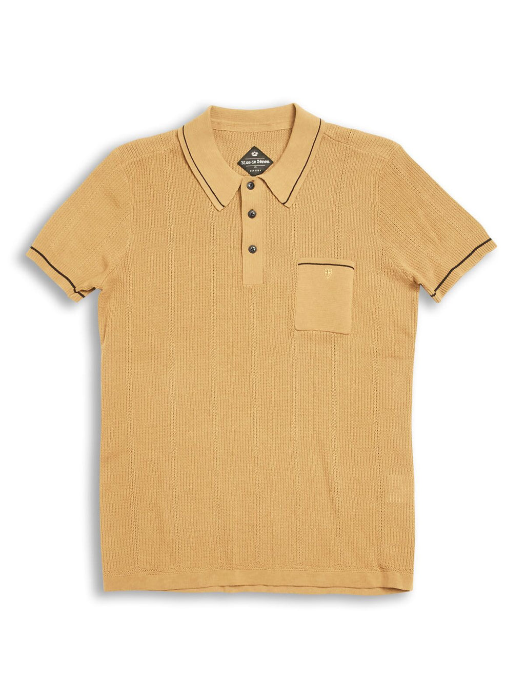 Blue de Genes Khaki Dolce Polo Knit - REDUCED!