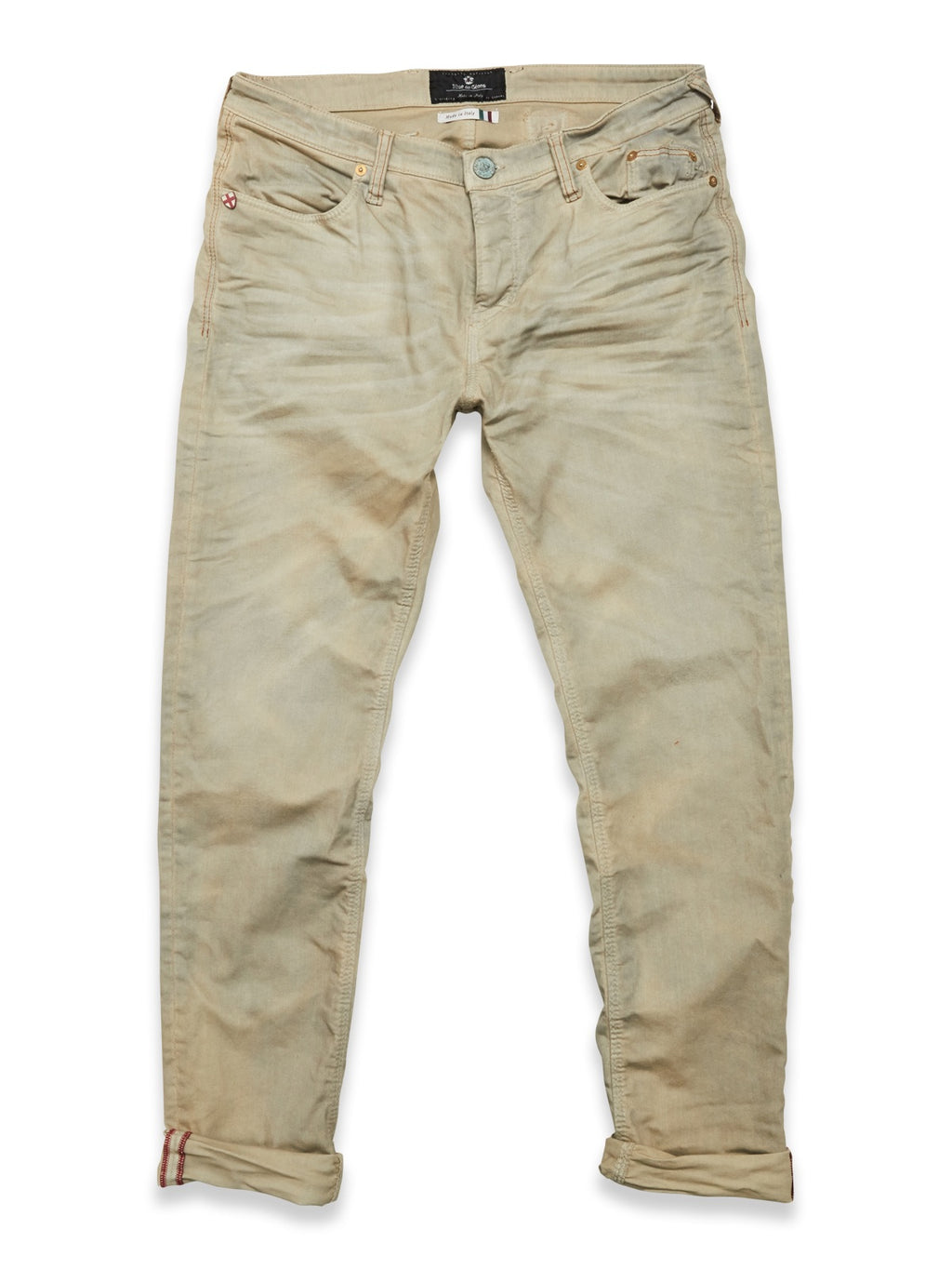 Blue de Genes Light Grey Repi Oil Trousers