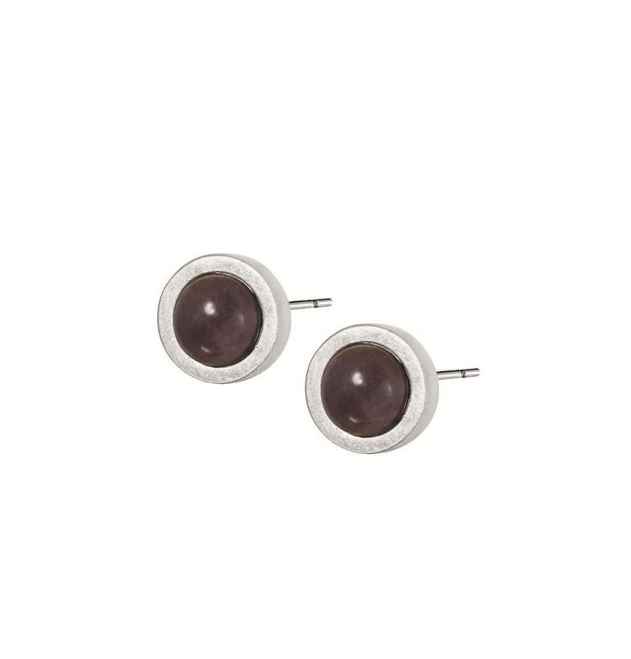 Sence Copenhagen Signature Stud Earrings Purple Aventurine A009