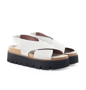 Lofina Unam Platino Gold Leather Sandals E8-506