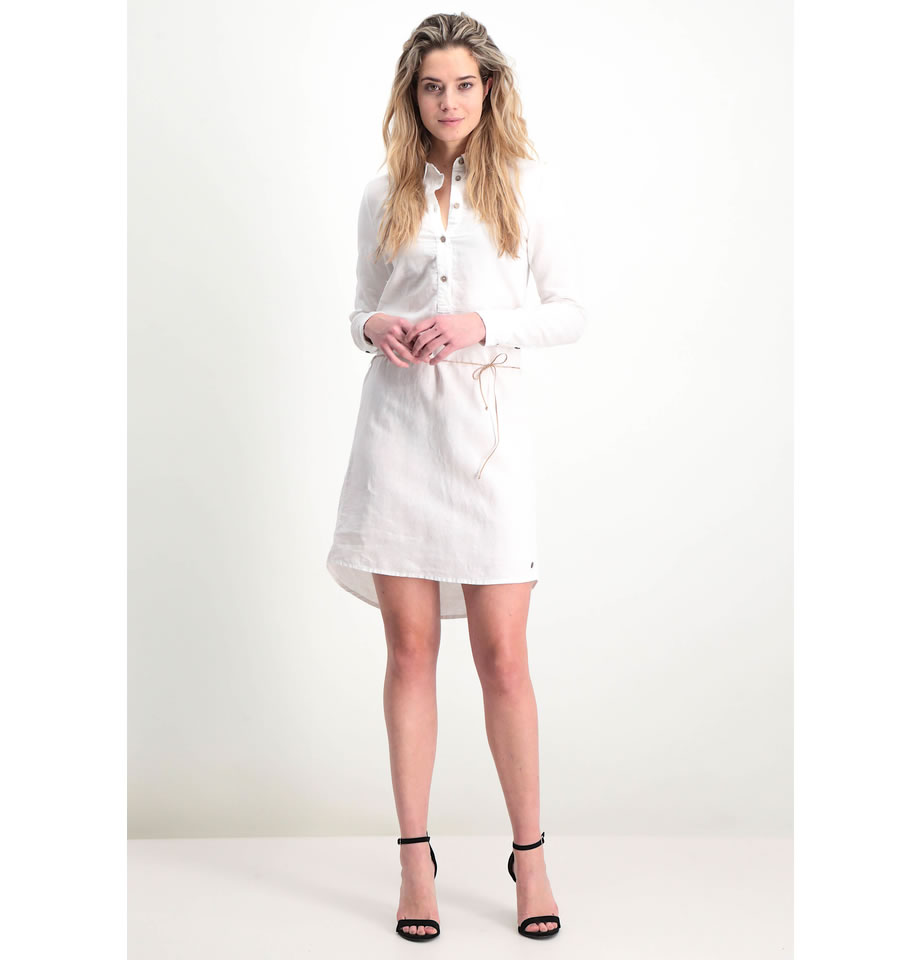 Garcia Ladies Off White Belted Shirt Dress P80284