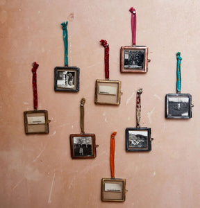 Nkuku Tiny Kiko Frames Hanging Antique Brass