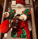 Large Red and Green Sitting Santa 24inch