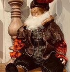 Sitting Santa Copper Brocade 24 inch