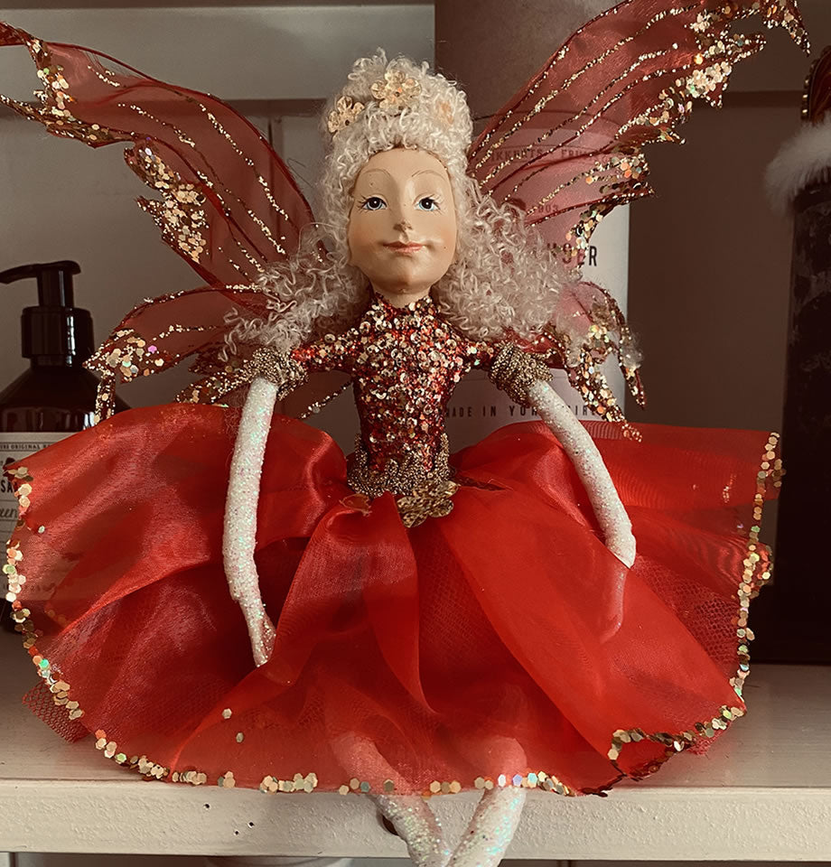 Ballerina Fairy Red and Gold