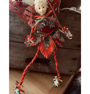 Medium Woodland Fairy Red Holly Toes