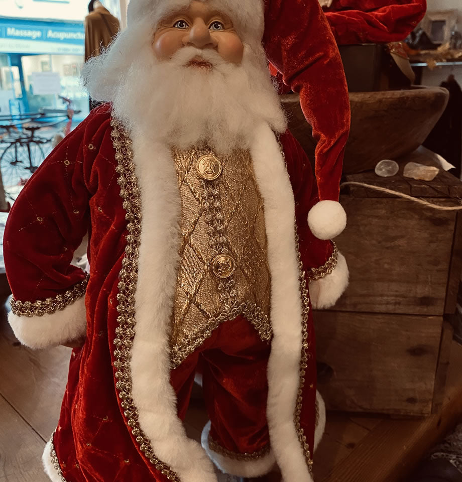 Standing Red and Gold Santa 18 Inch