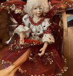 Small Red and Gold Woodland Fairy