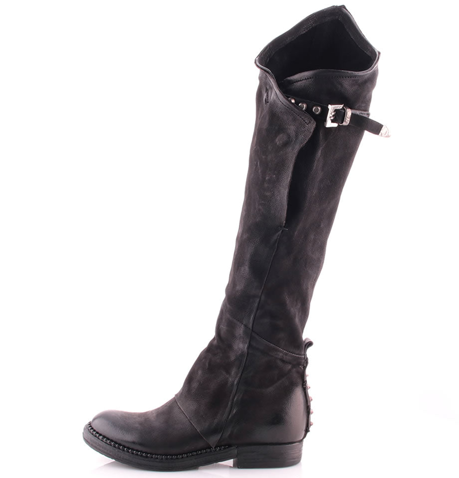 A.S.98 Nero Leather Biker Boot 250313