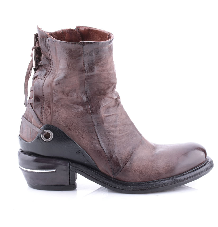 A.S.98 Fango and Nero Leather Ankle Boots 512208