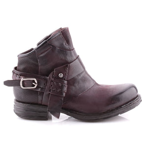A.S.98 Liz Maroon Leather Ankle Boots 259269