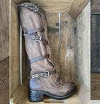 A.S.98 Chocolate Brown Leather Biker Boot 261358