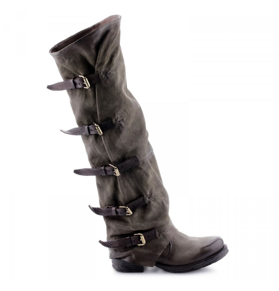A.S.98 Saintec Over The Knee Buckle Boot Jungle TDM