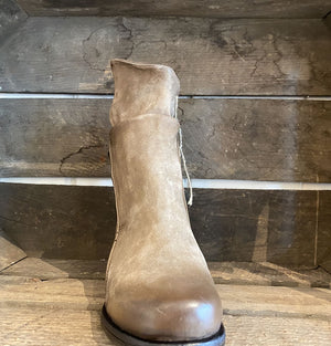 A.S.98 Tabacco Brownish Grey Leather Wrap Boots 545225