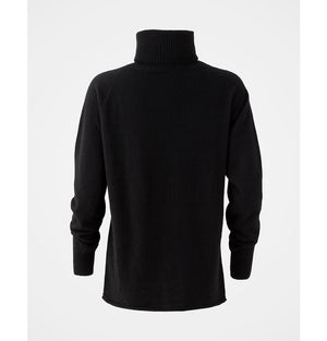 Celtic & Co Geelong Slouch Roll Neck Jumper Black