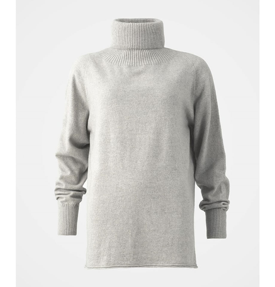 Celtic & Co Geelong Slouch Roll Neck Jumper Fossil