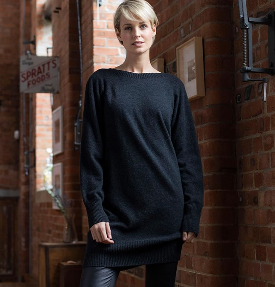 Celtic & Co Clothing - Supersoft Slouch Dress Charcoal
